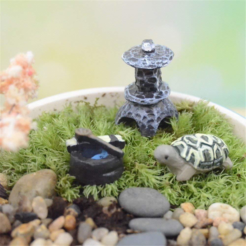DIY mini zen garden tortoise statue